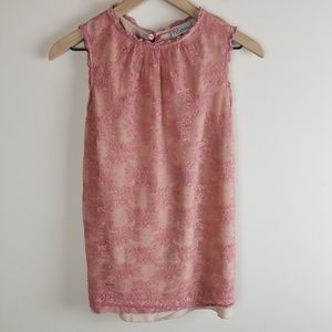 Red Valentino Nude/Blush Pink Lace Bow Top